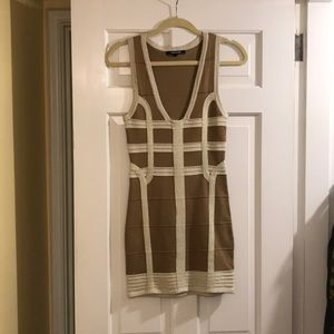 Gold and beige party dress